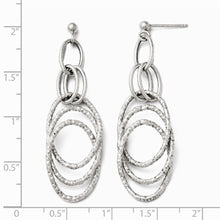 Load image into Gallery viewer, Leslie's 14k White Gold Fancy Post Dangle Earrings