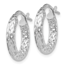 Load image into Gallery viewer, Leslie's 14k White Gold Polished D/C Hoop Earrings