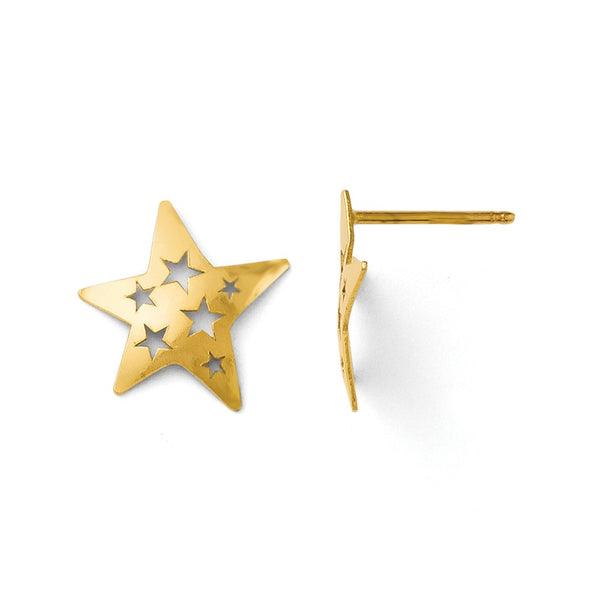 Leslie's 14k Polished Fancy Star Post Earrings