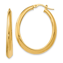 Load image into Gallery viewer, Leslie's 14k Polished Oval Hoop Earrings