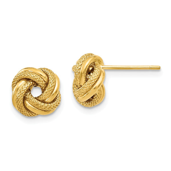 Leslie's 14k Polished D/C Love Knot Post Earrings