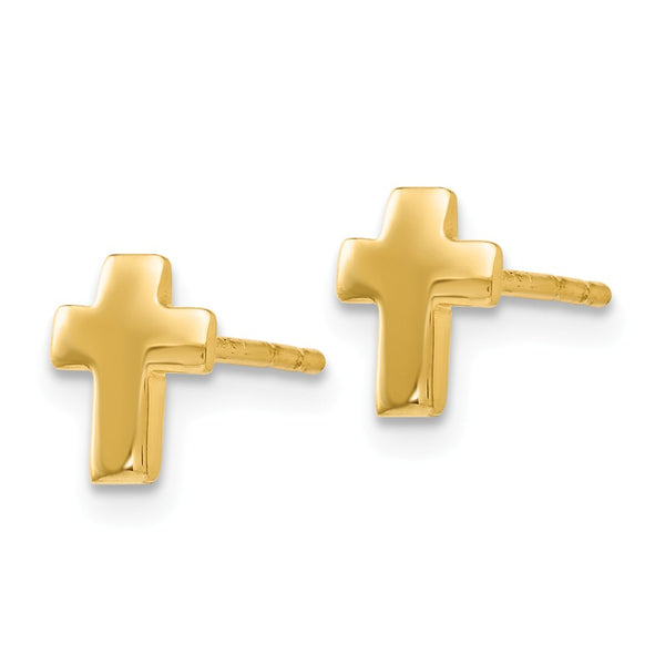 Leslie's 14k Polished Cross Post Earrings