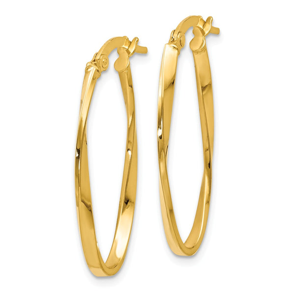 Leslie's 14k Twisted Oval Hoop Earrings