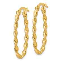 Load image into Gallery viewer, Leslie's 14K Twisted Oval Hoop Earrings