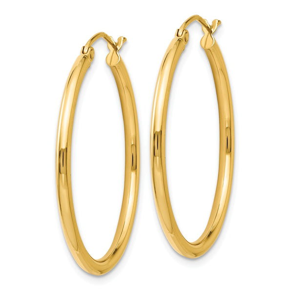 Leslie's 14K 2mm Polished Hoop Earrings