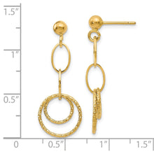 Load image into Gallery viewer, Leslie's 14K Polished and Textured Post Dangle Earrings