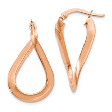Load image into Gallery viewer, Leslie's 14K and Rose Gold-plated Polished Hoop Earrings
