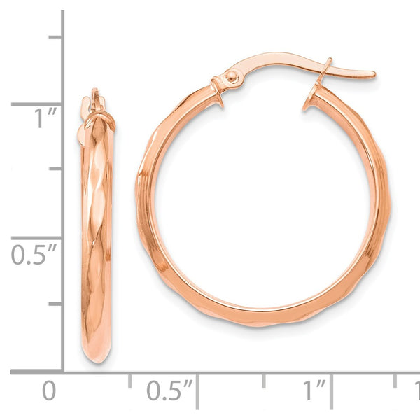 Leslie's 14k and Rose Gold-plated Polished Hoop Earrings