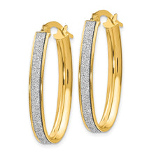Load image into Gallery viewer, Leslie's 14k Polished Glimmer Infused Oval Hoop Earrings