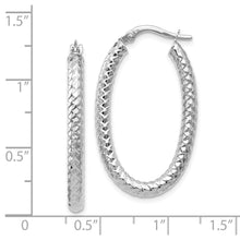 Load image into Gallery viewer, Leslie's 14k ForeverLite White Gold Polished and Textured Earrings