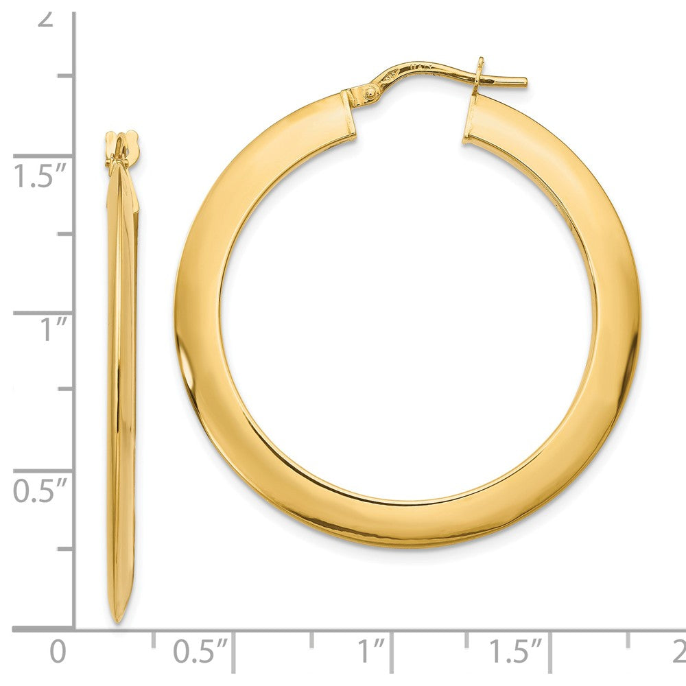 Leslie's 14k Polished Hoop Earrings