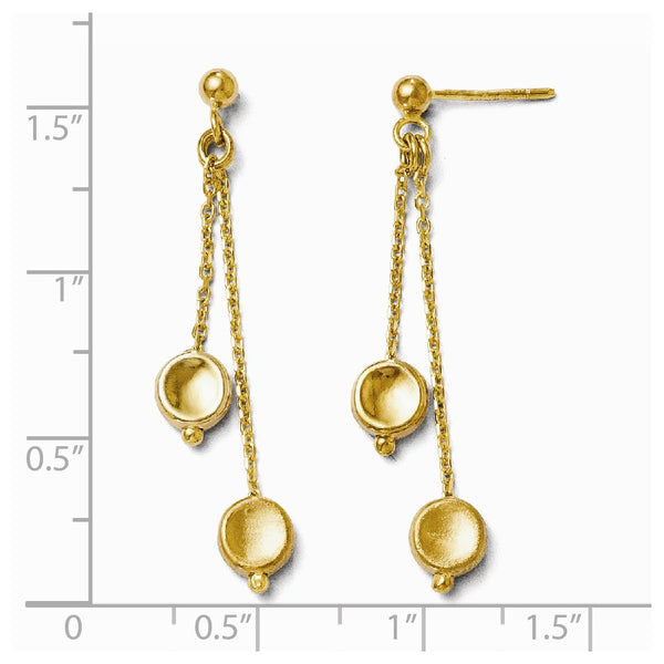 Leslie's 14k Polished and Satin Post Dangle Earrings