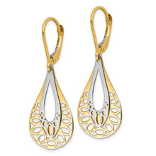 Load image into Gallery viewer, Leslie's 14k Two-tone Polished Dangle Leverback Earrings