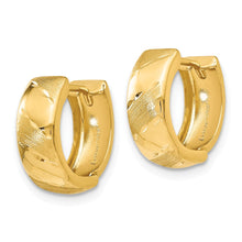 Load image into Gallery viewer, Leslie's 14k Polished and Satin Hinged Hoop Earrings
