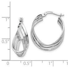 Load image into Gallery viewer, Leslie's 14k White Gold Polished Fancy Hinged Hoop Earrings
