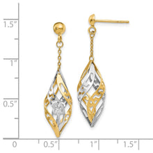 Load image into Gallery viewer, Leslie's 14k Two-tone Polished Post Dangle Earrings