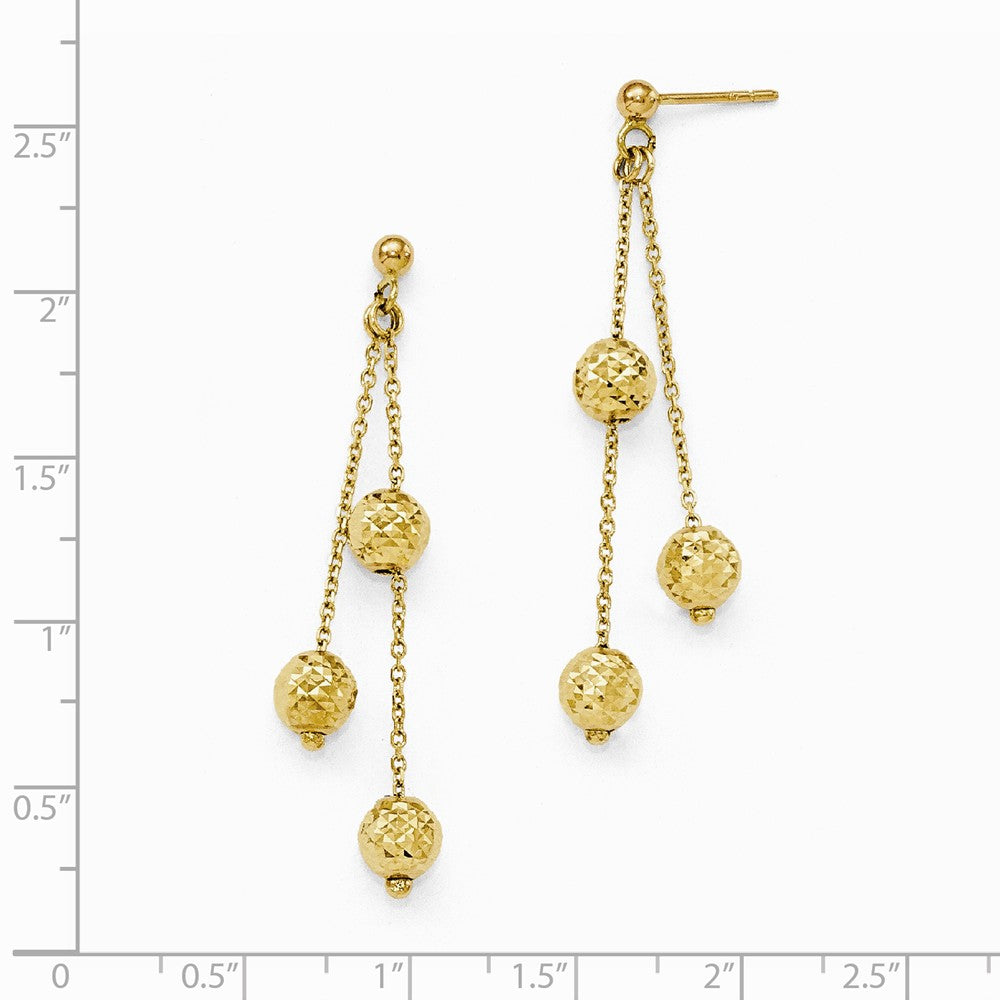 Leslie's 14k Diamond-Cut Earrings