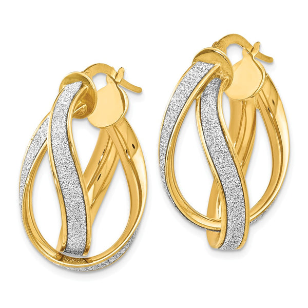 Leslie's 14k Glimmer Infused Double Twist Earrings