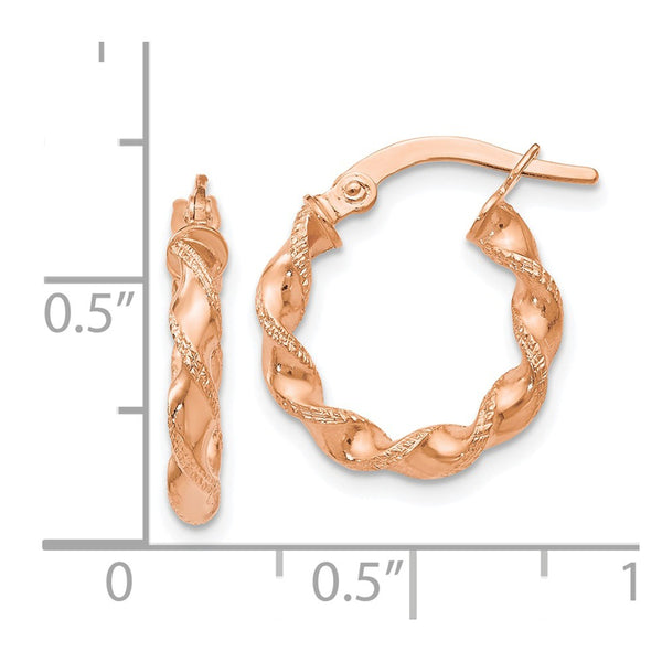 Leslie's 14k Rose Gold Twisted Hoop Earrings