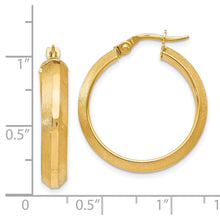Load image into Gallery viewer, Leslie's 14k Polished and Brushed Hinged Hoop Earrings