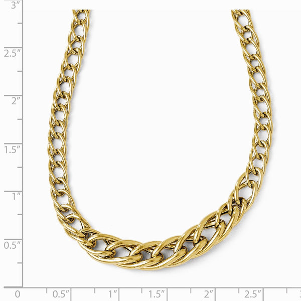 Leslie's 14K Yellow Gold Polsihed Fancy Link w/ 2in ext. Necklace