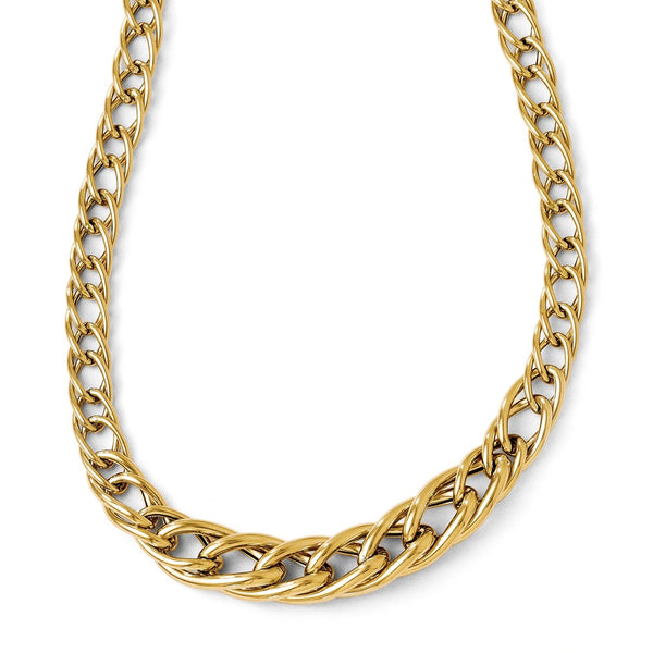 Leslie's 14K Yellow Gold Polsihed Fancy Link With  2in ext. Necklace