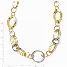 Load image into Gallery viewer, Leslie's 14K Two-tone Polished and Textured Fancy Necklace