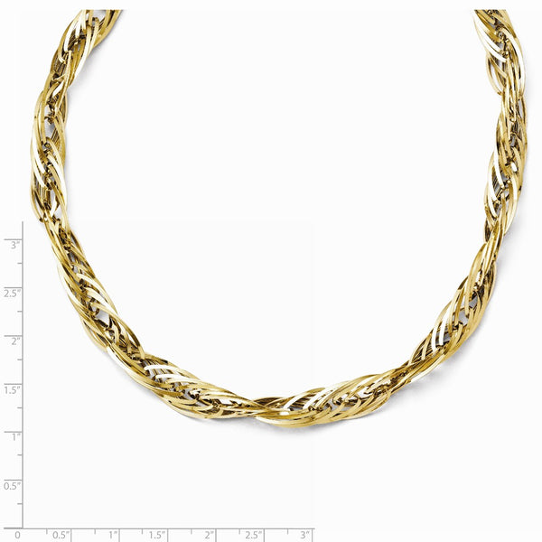 Leslie's 14K Yellow Gold Polished Fancy Link Necklace
