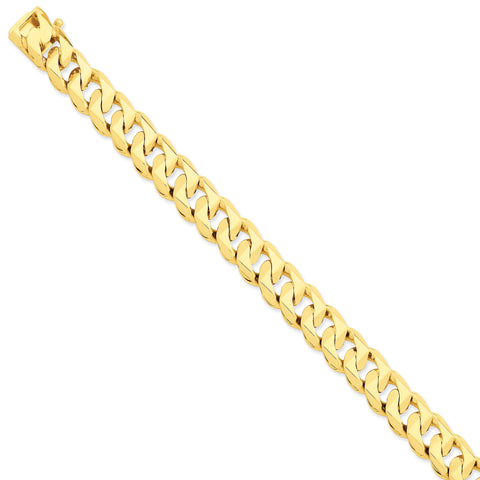 14K 11mm Hand-polished Traditional Link Bracelet