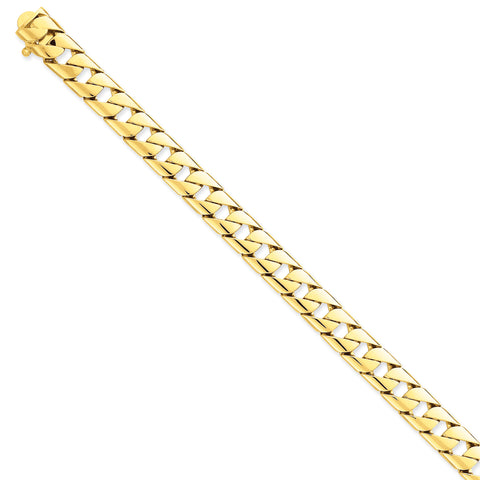 14K 10.2mm Hand-polished Fancy Link Bracelet