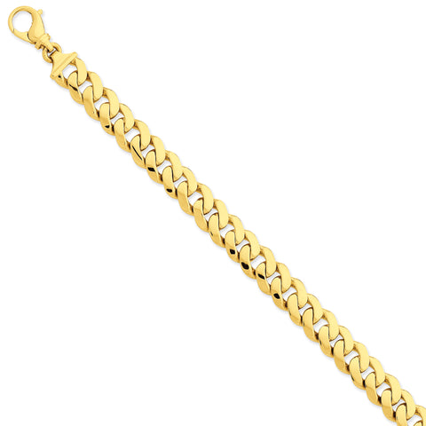 14k 10.75mm Polished Fancy Link Bracelet