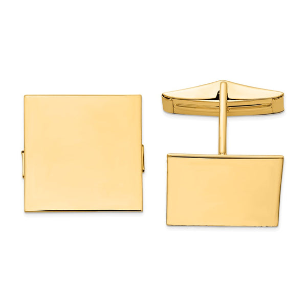 14K Square Cuff Links