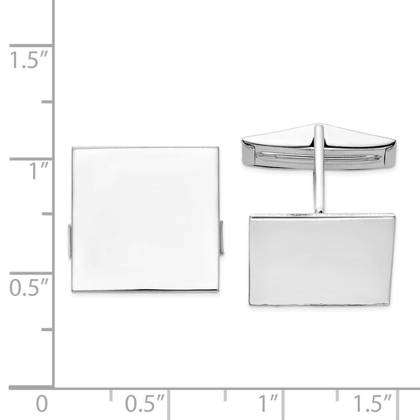 14K WG Square Cuff Links