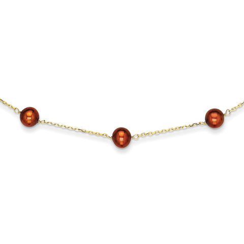 14K Brown FW Cultured Pearl Necklace