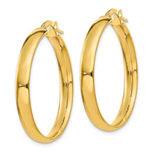 Load image into Gallery viewer, 14k  4x25mm Polished Hoop Earrings