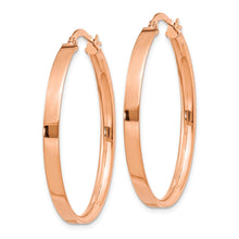 Load image into Gallery viewer, 14K Plated Rose Rhodium Hoop Earrings