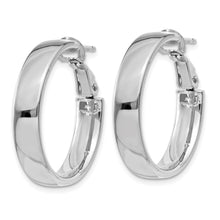 Load image into Gallery viewer, 14k White Gold Hoop Earrings