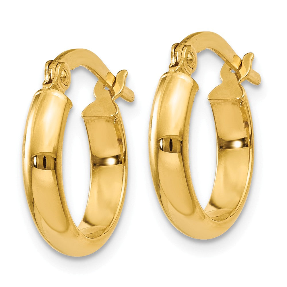 14k 3.00mm Hoop Earrings