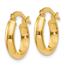 Load image into Gallery viewer, 14k 3.00mm Hoop Earrings