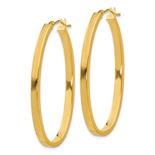 Load image into Gallery viewer, 14ky Polished Oval Hoop Earrings