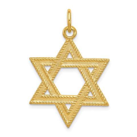 24k Gold-plated Sterling Silver Star of David Pendant
