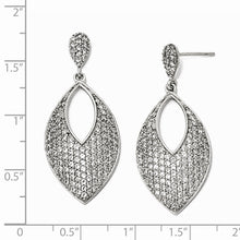 Load image into Gallery viewer, Sterling Silver CZ Dangle Post Earrings
