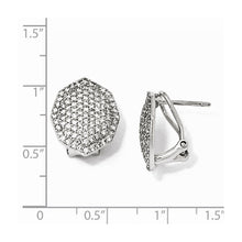 Load image into Gallery viewer, Sterling Silver CZ Polygon Post Earrings