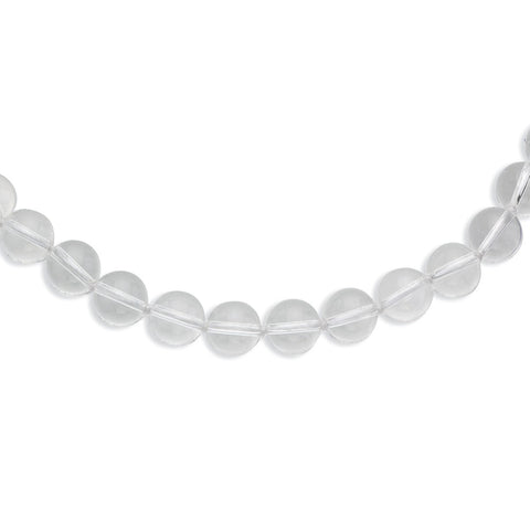 12-12.5mm Smooth Beaded Crystal Necklace