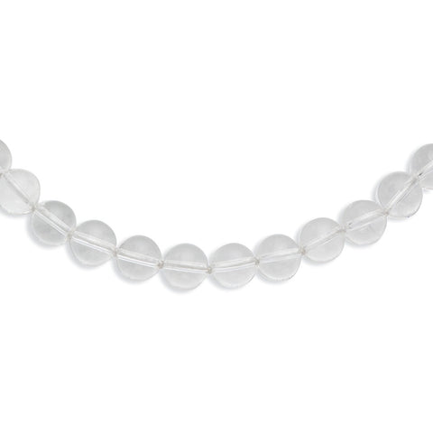 10-10.5mm Smooth Beaded Crystal Necklace