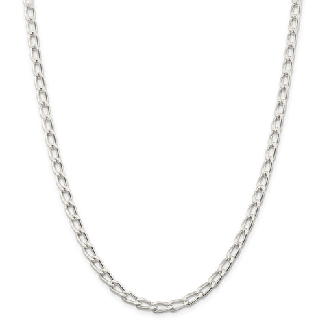 Sterling Silver 5.1mm Open Link Chain