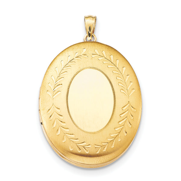 1/20 Gold Filled 34mm 2-Frame Oval Locket