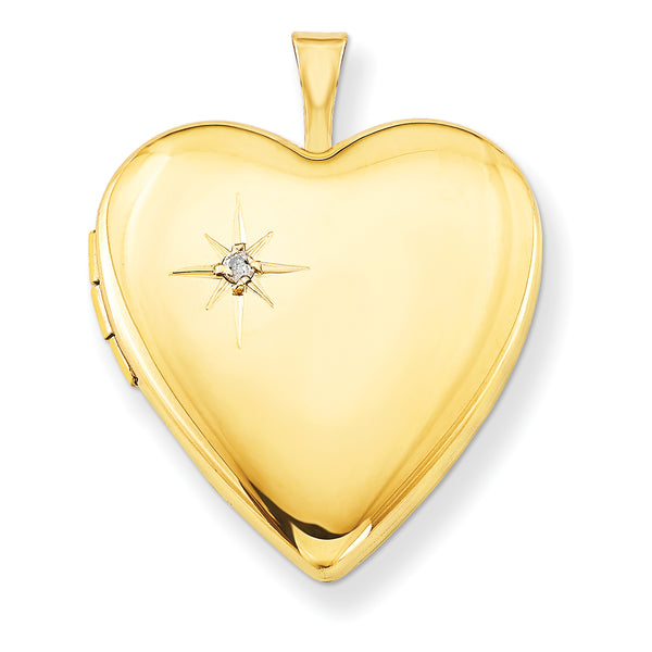 1/20 Gold Filled 20mm Diamond Heart Locket