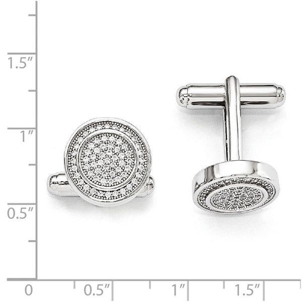 Sterling Silver & Cubic Zirconia Brilliant Embers Cufflinks