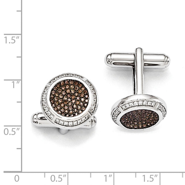 Sterling Silver & Cubic Zirconia Brilliant Embers Cuff Links